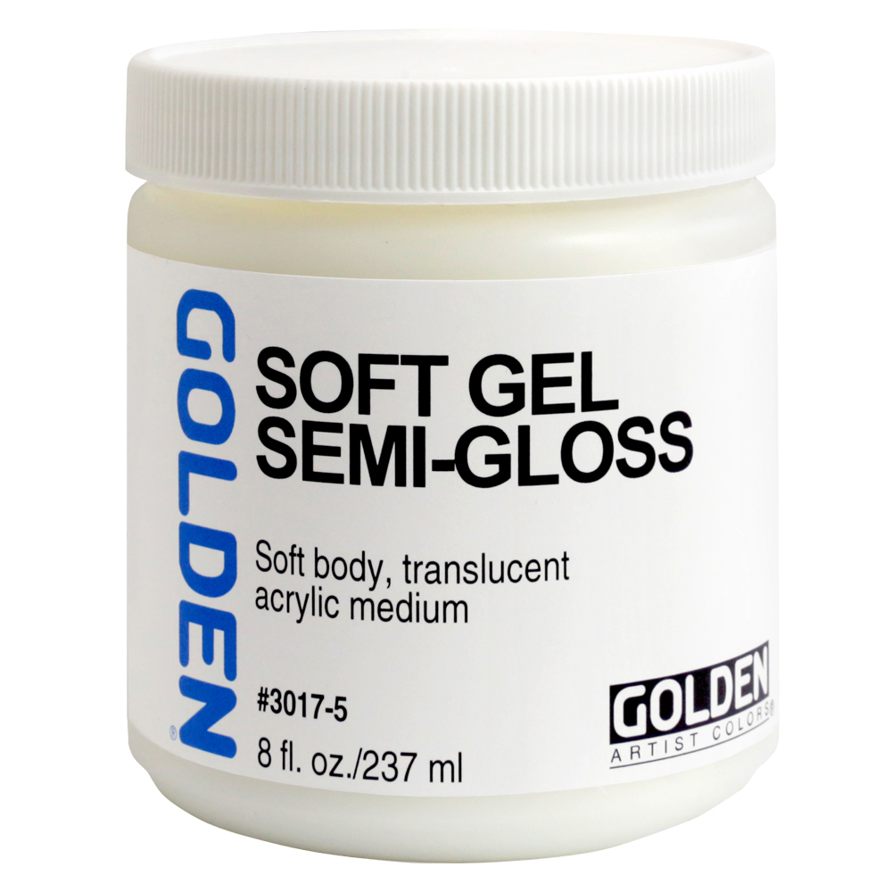 Golden Acryl Med 8 Oz Soft Gel Semi-Gloss