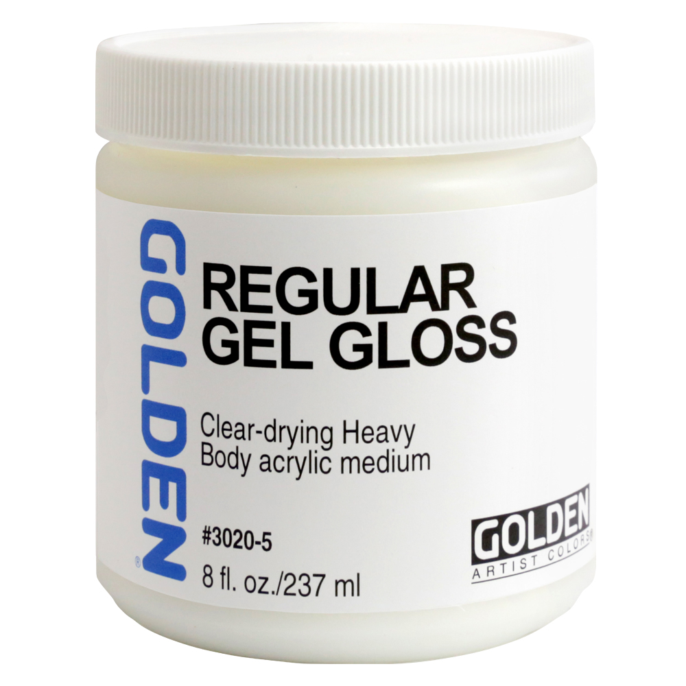 Golden Acryl Med 8 Oz Regular Gel Gloss