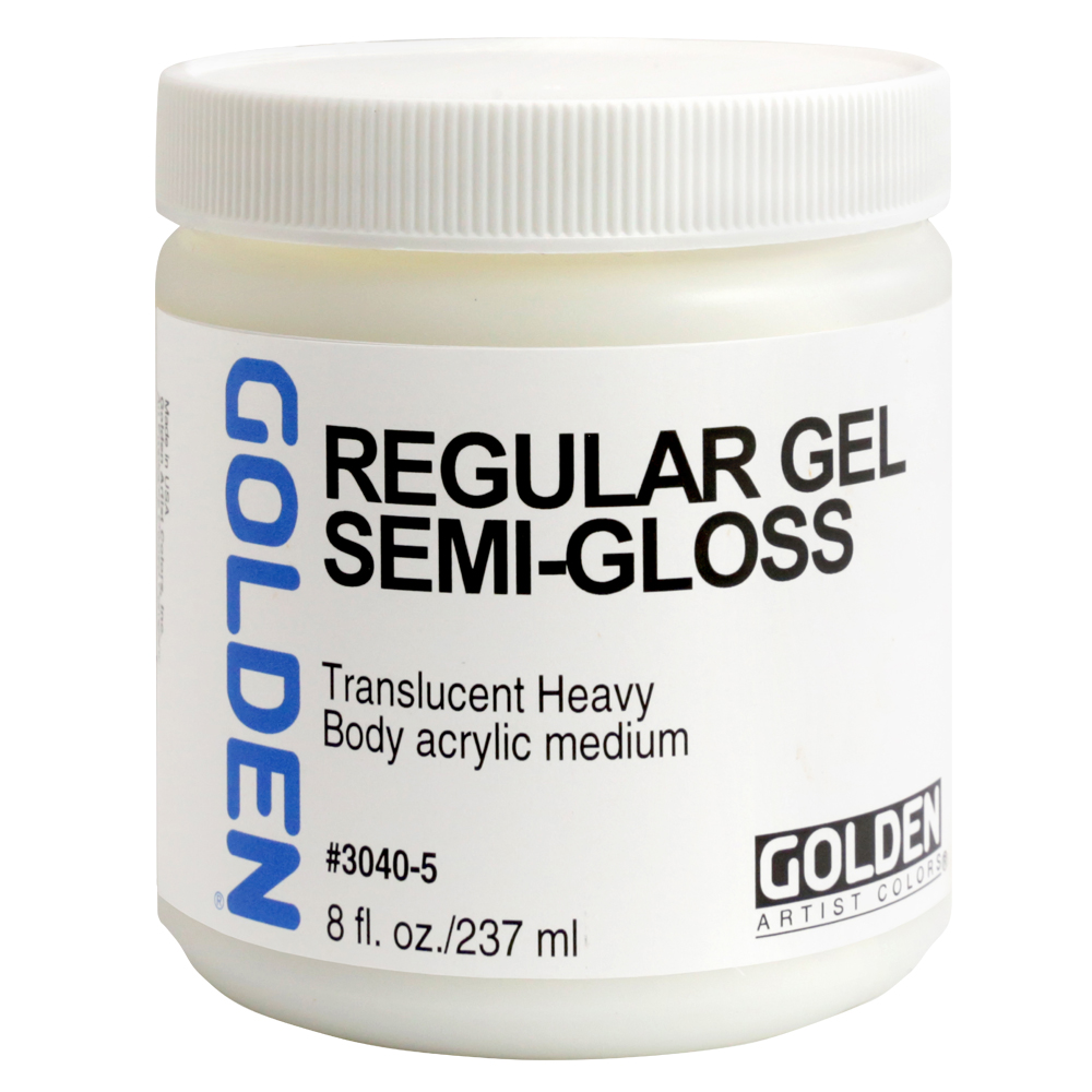 Golden Acryl Med 8 Oz Regular Gel Semi-Gloss