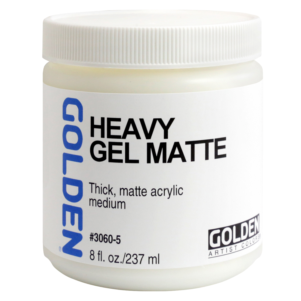 Golden Acryl Med 8 Oz Heavy Gel Matte