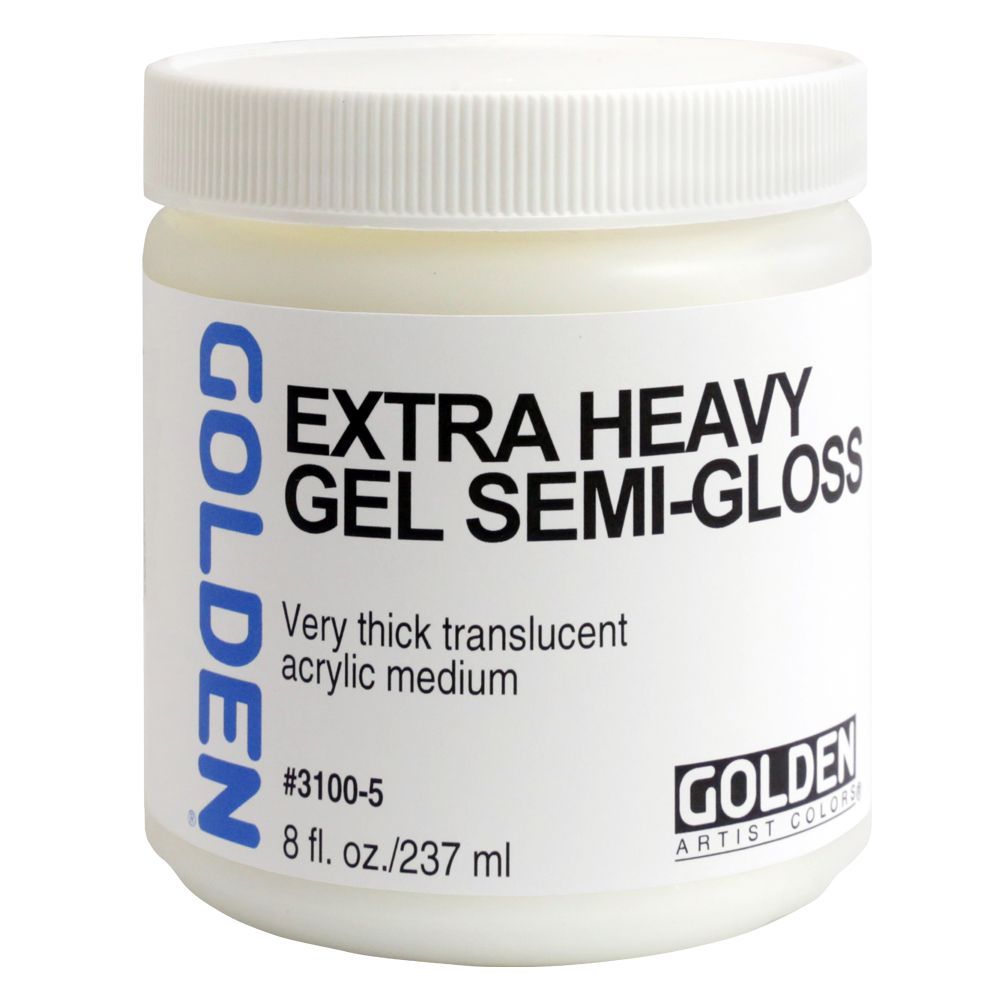 Golden Acryl Med 8 Oz X-Heavy Gel Semi-Gloss