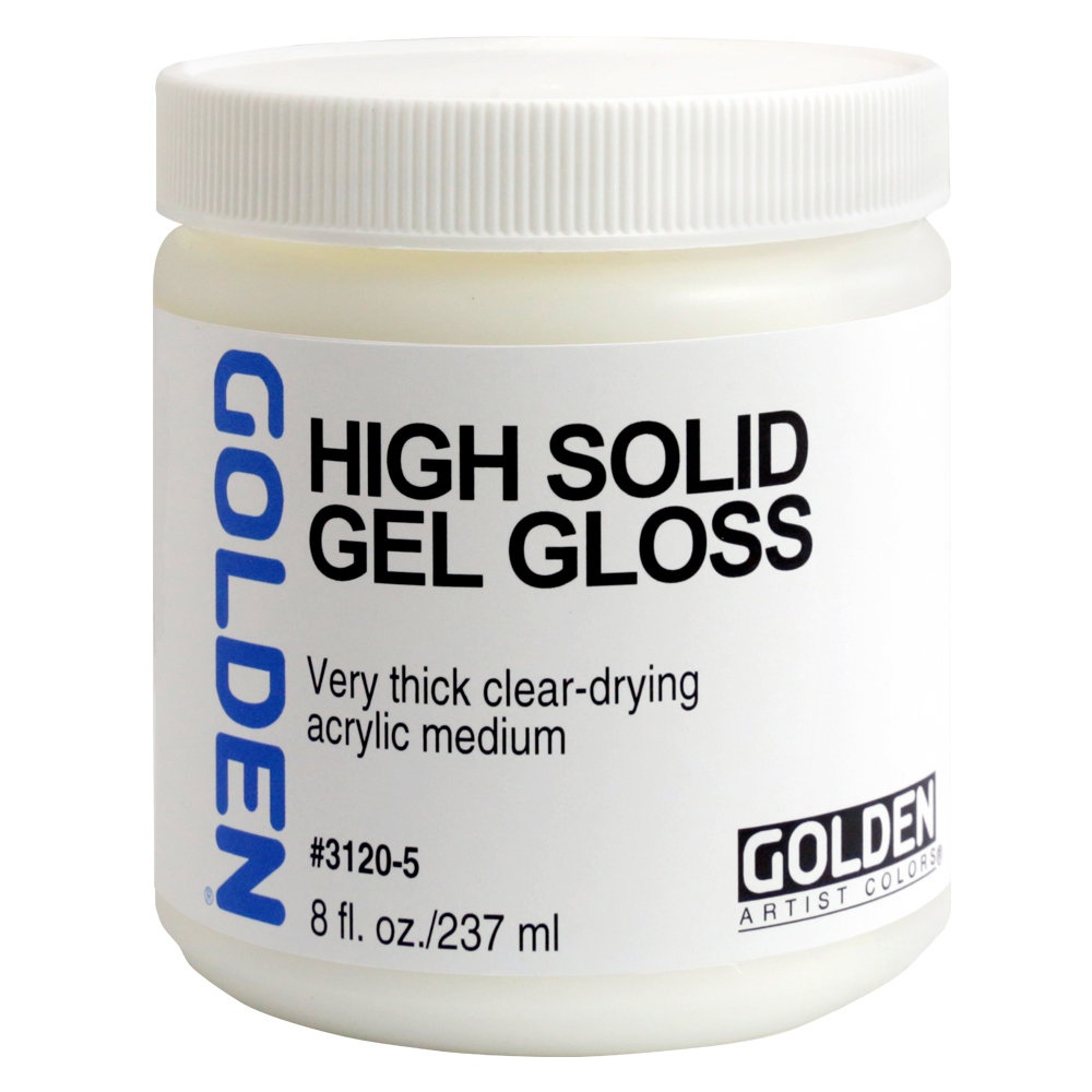 Golden Acryl Med 8 Oz High Solid Gel Gloss