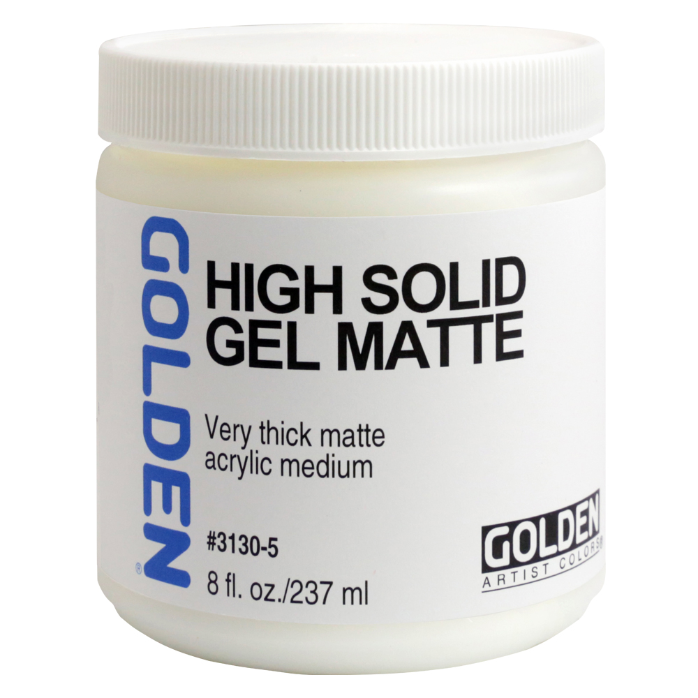 Golden Acryl Med 8 Oz High Solid Gel Matte