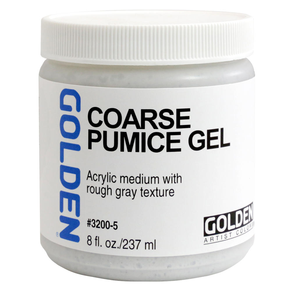 Golden Acryl Med 8 Oz Coarse Pumice Gel