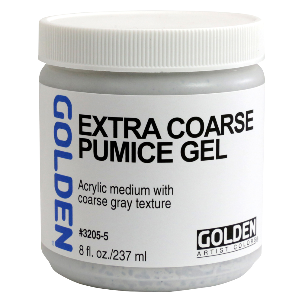 Golden Acryl Med 8 Oz X-Coarse Pumice Gel