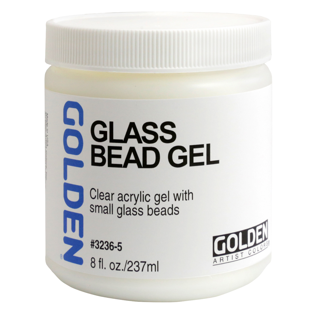Golden Acryl Med 8 Oz Glass Bead Gel