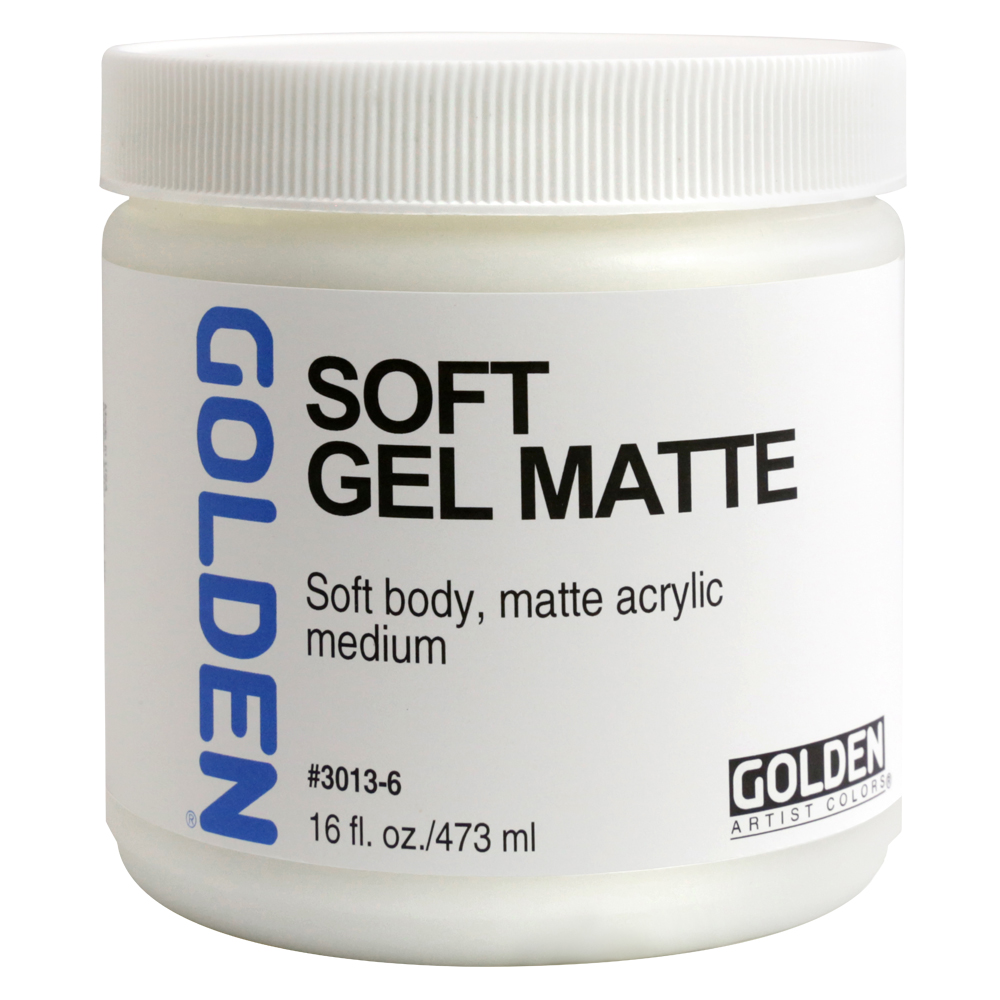Golden Acryl Med 16 Oz Soft Gel Matte