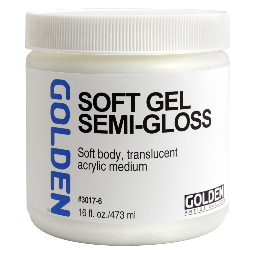 Golden Acryl Med 16 Oz Soft Gel Semi-Gloss
