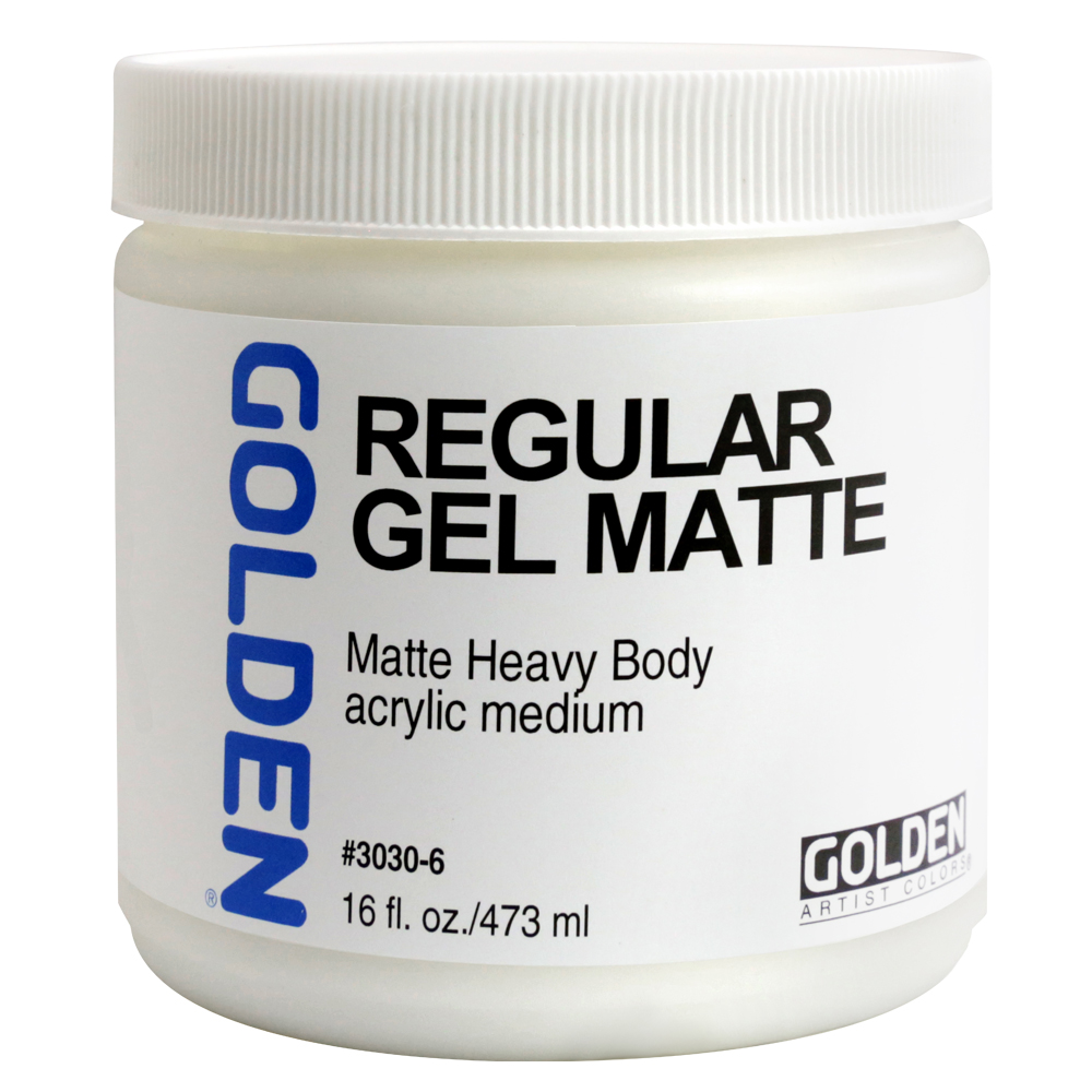 Golden Acryl Med 16 Oz Regular Gel Matte