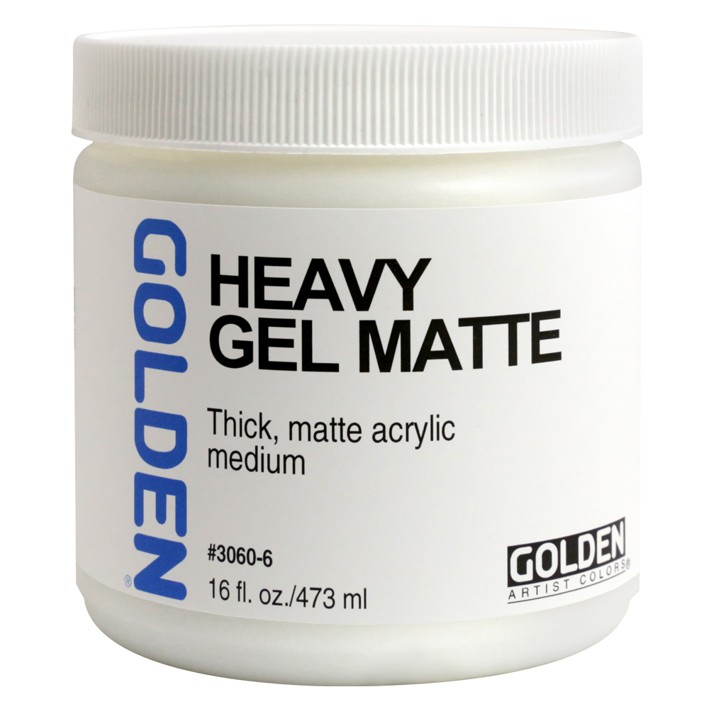 Golden Acryl Med 16 Oz Heavy Gel Matte