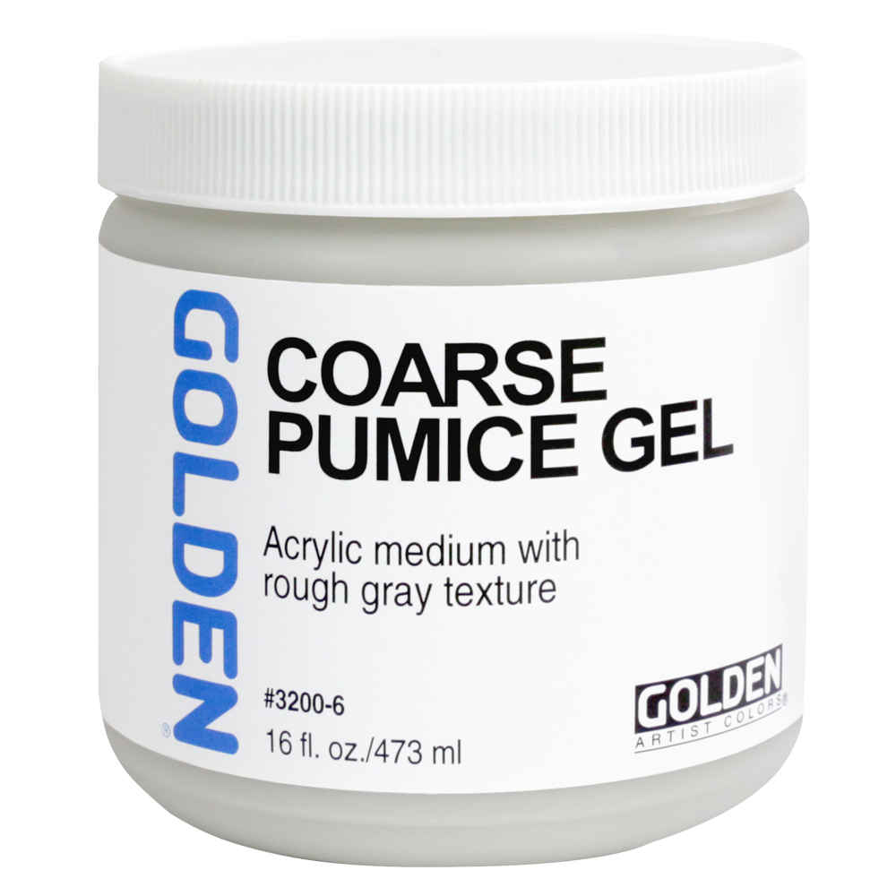 Golden Acryl Med 16 Oz Coarse Pumice Gel