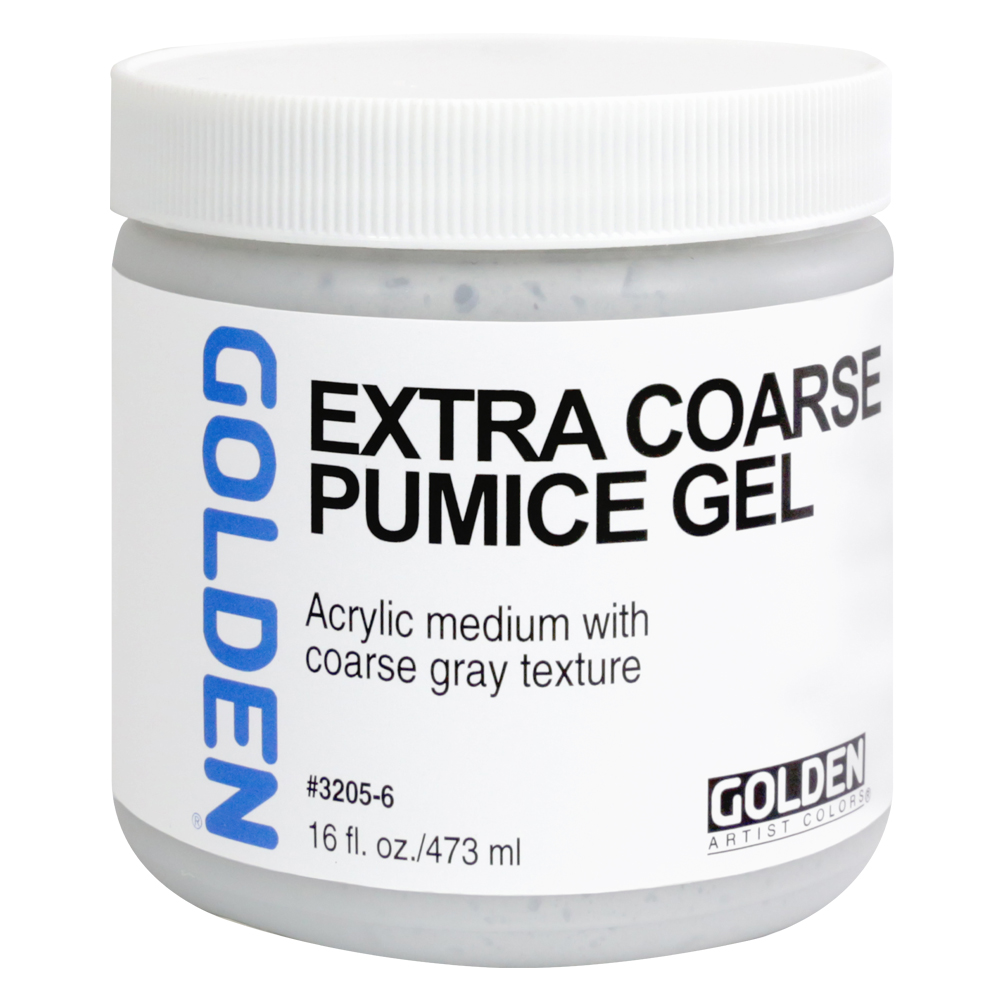 Golden Acryl Med 16 Oz X-Coarse Pumice Gel