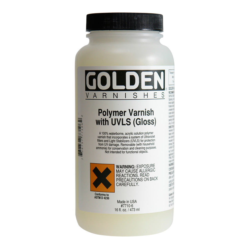 Golden 16 Oz Polymer Varnish Matte W/Uvls