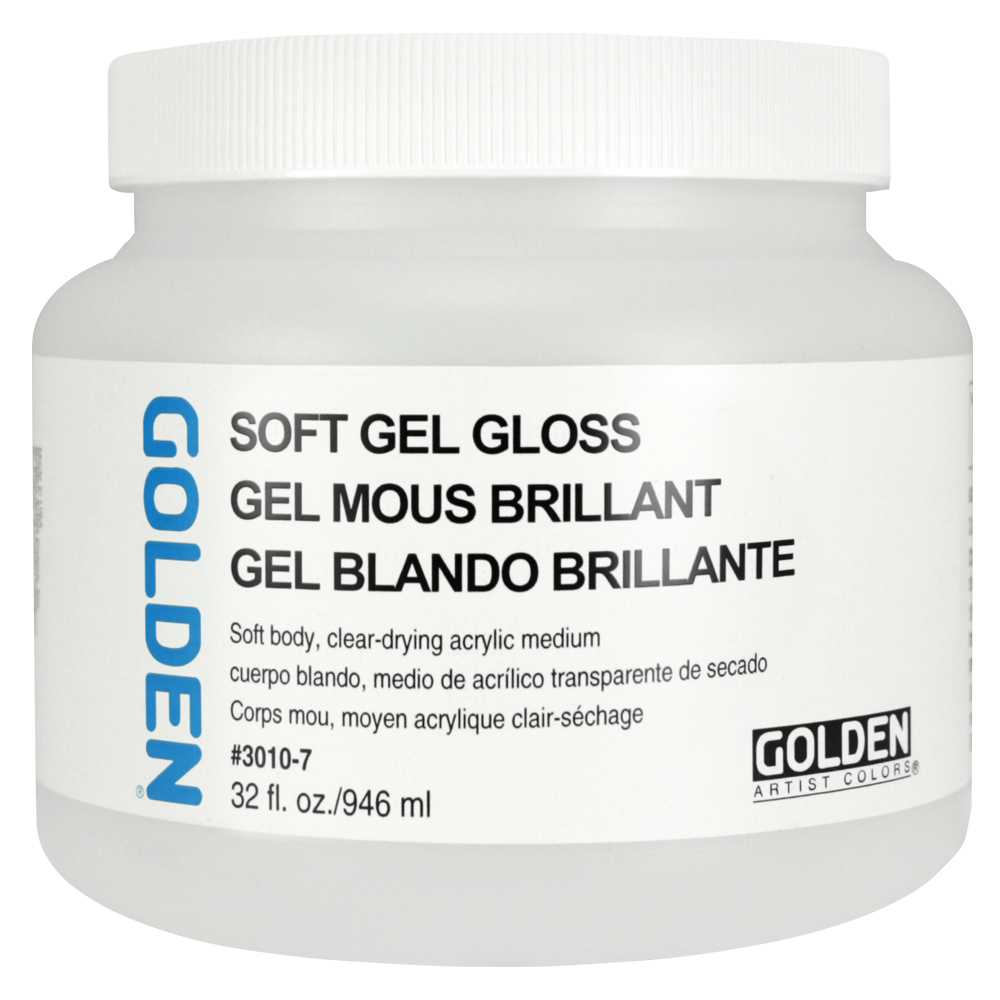 Golden Acryl Med 32 Oz Soft Gel Gloss