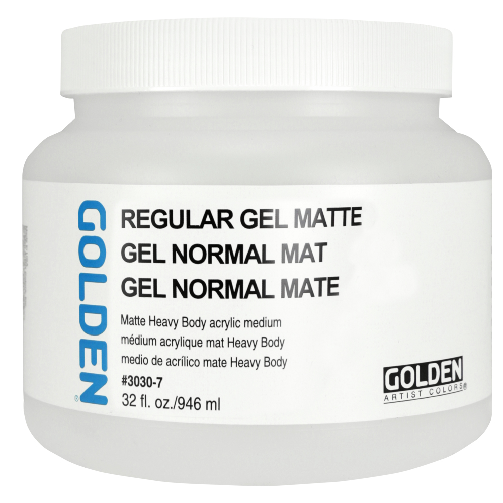 Golden Acryl Med 32 Oz Regular Gel Matte