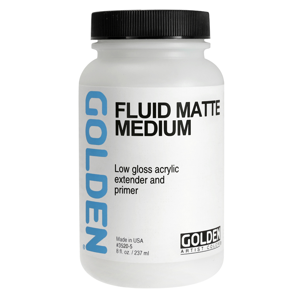 Golden Acryl Med 8 Oz Fluid Matte Medium