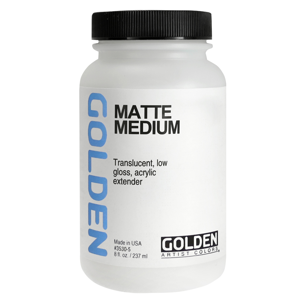 Golden Acryl Med 8 Oz Matte Medium