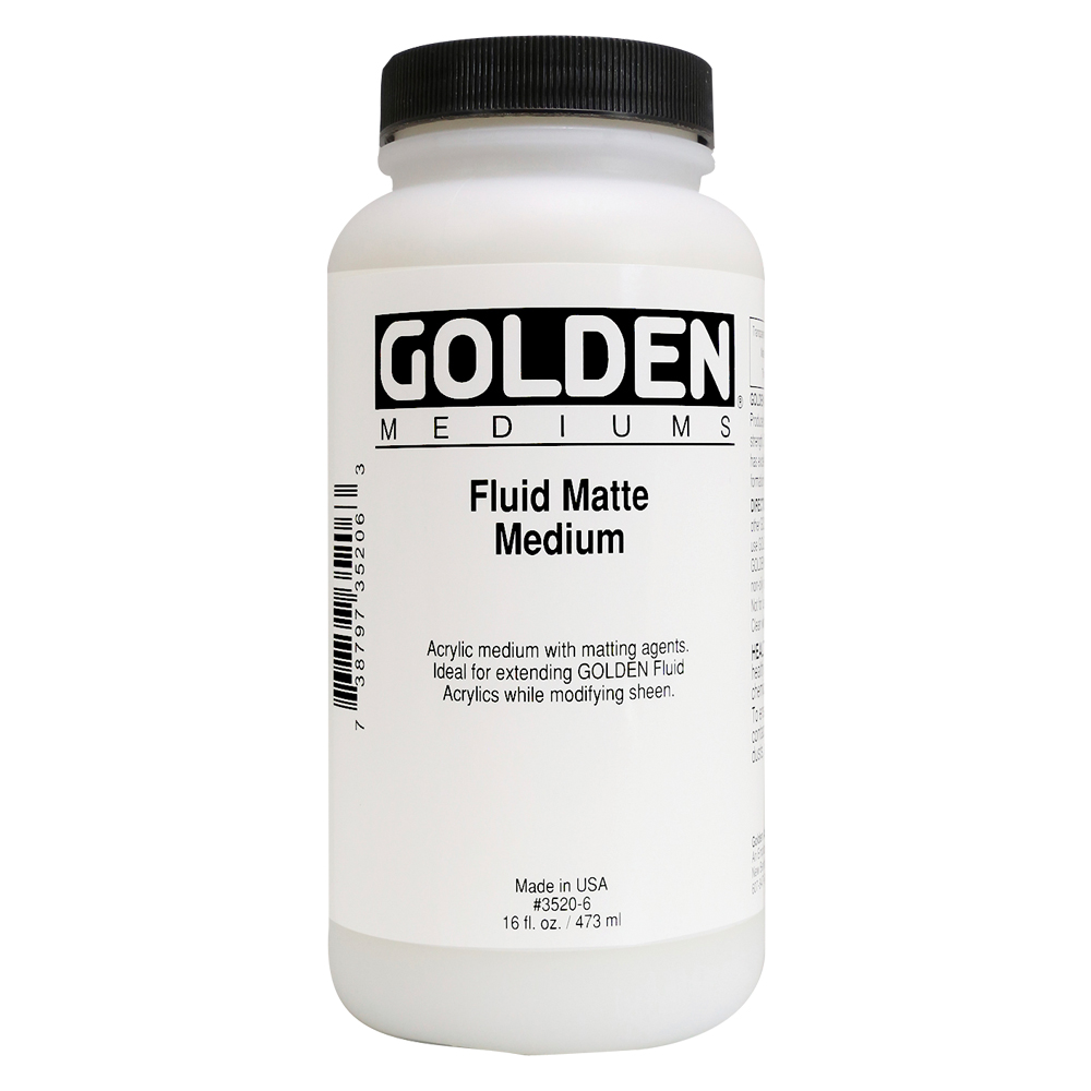 Golden Acryl Med 16 Oz Fluid Matte Medium