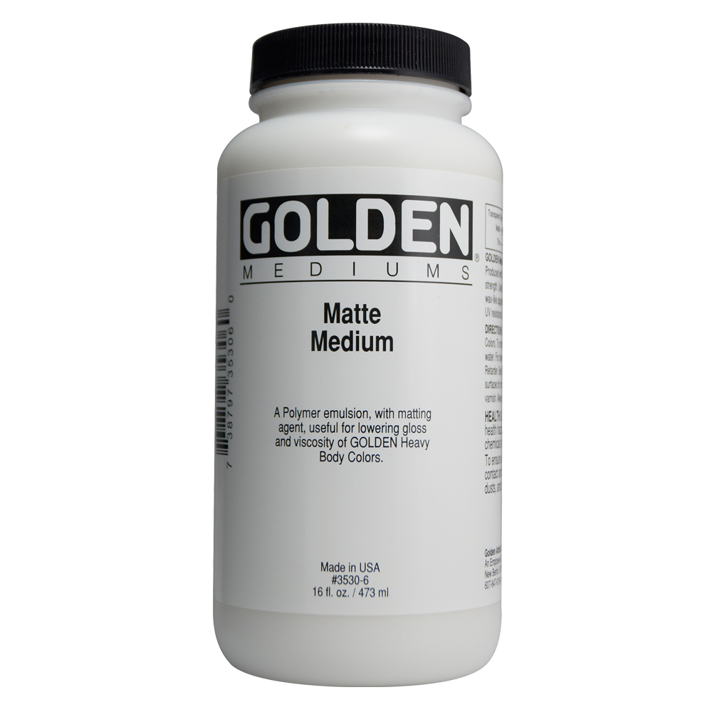 Golden Acryl Med 16 Oz Matte Medium