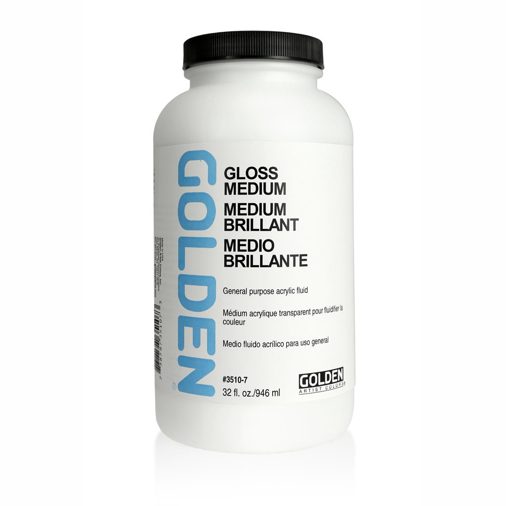Golden Acryl Med 32 Oz Polymer Medium