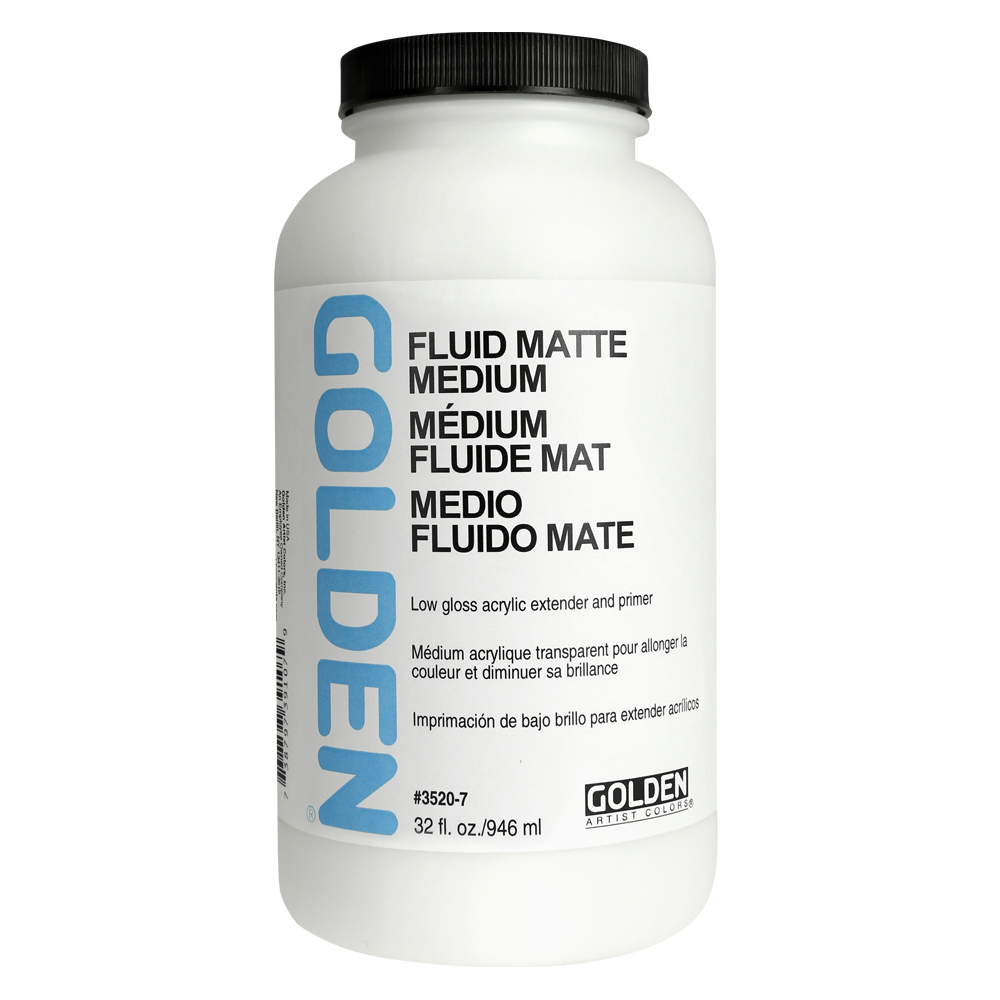 Golden Acryl Med 32 Oz Fluid Matte Medium