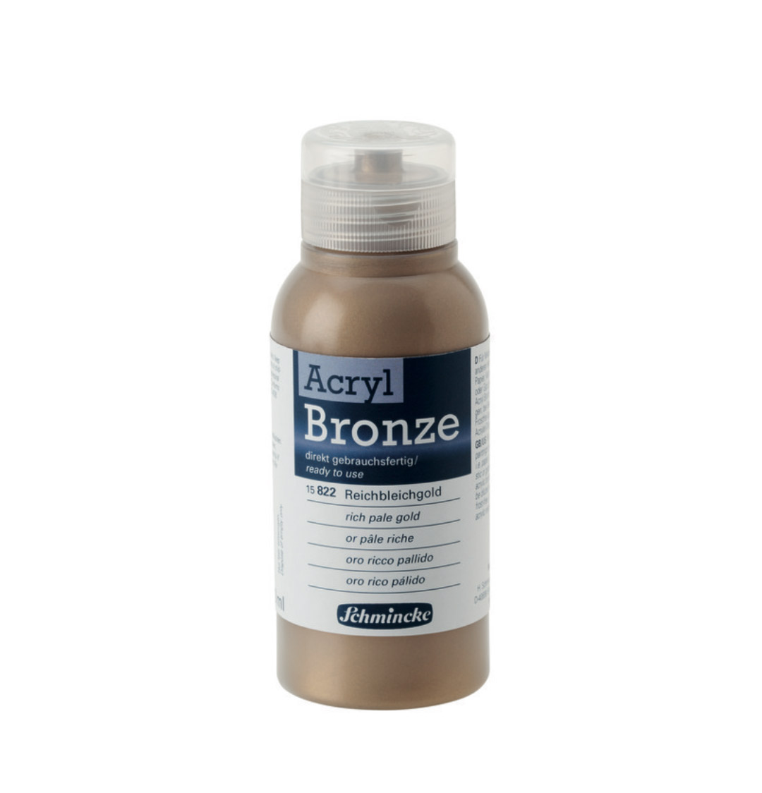 Schmincke Acrylic Bronze Rich Pale Gold 150Ml
