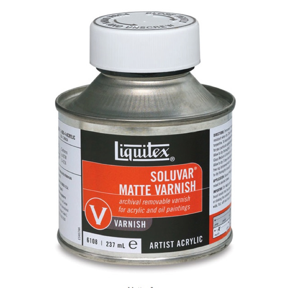 Liquitex Soluvar Matte Final Varnish 8 Oz