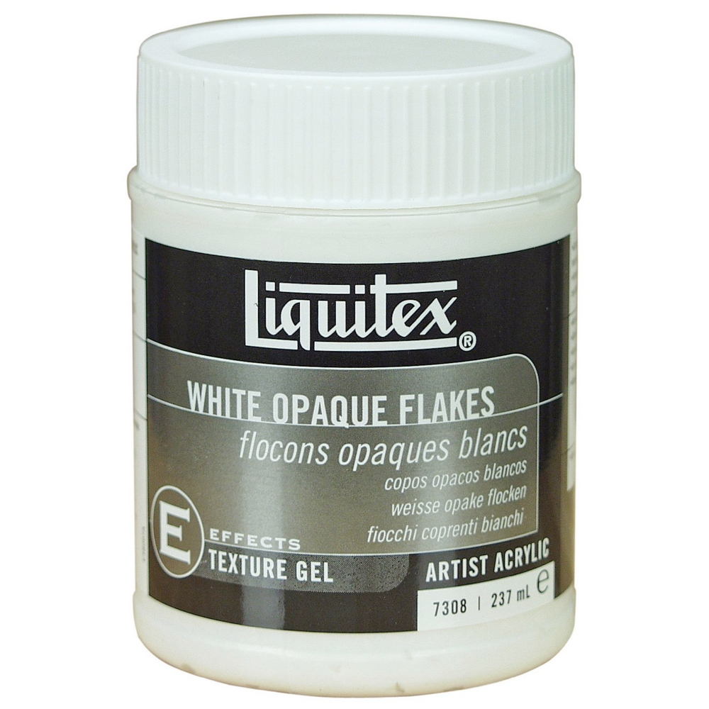 Liquitex Texturegel White Opaque Flake 8 Oz
