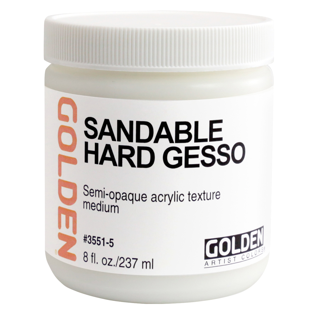 Golden Acrylic 8 Oz Sandable Hard Gesso