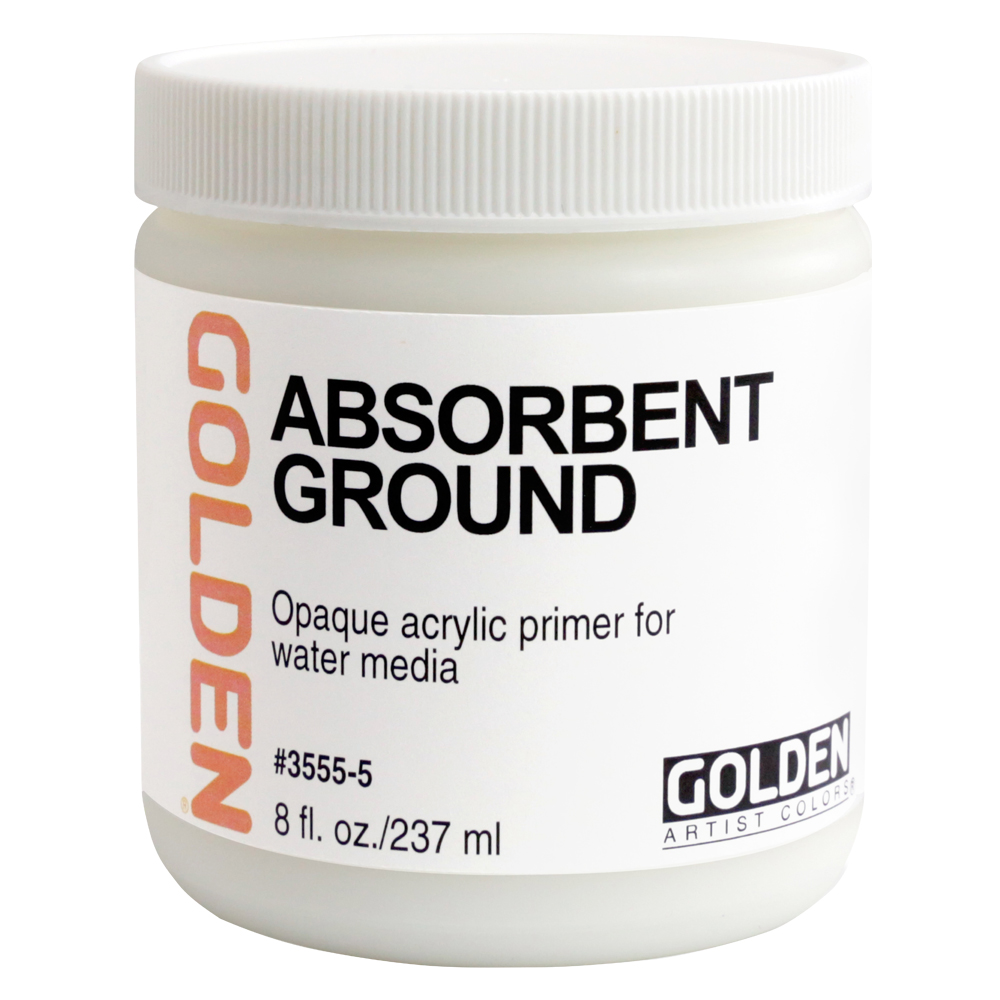 Golden Acrylic 8 Oz Absorbent Ground White
