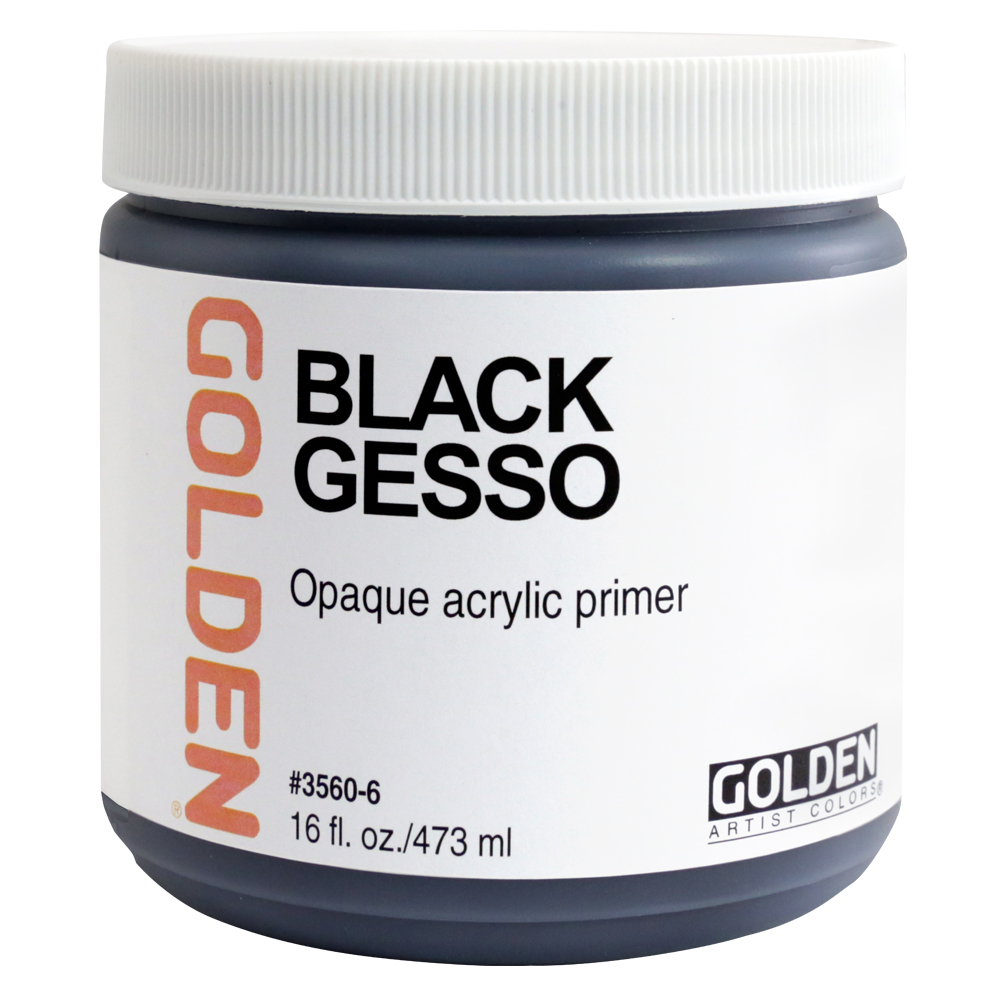 Golden Acrylic 8 Oz Black Gesso