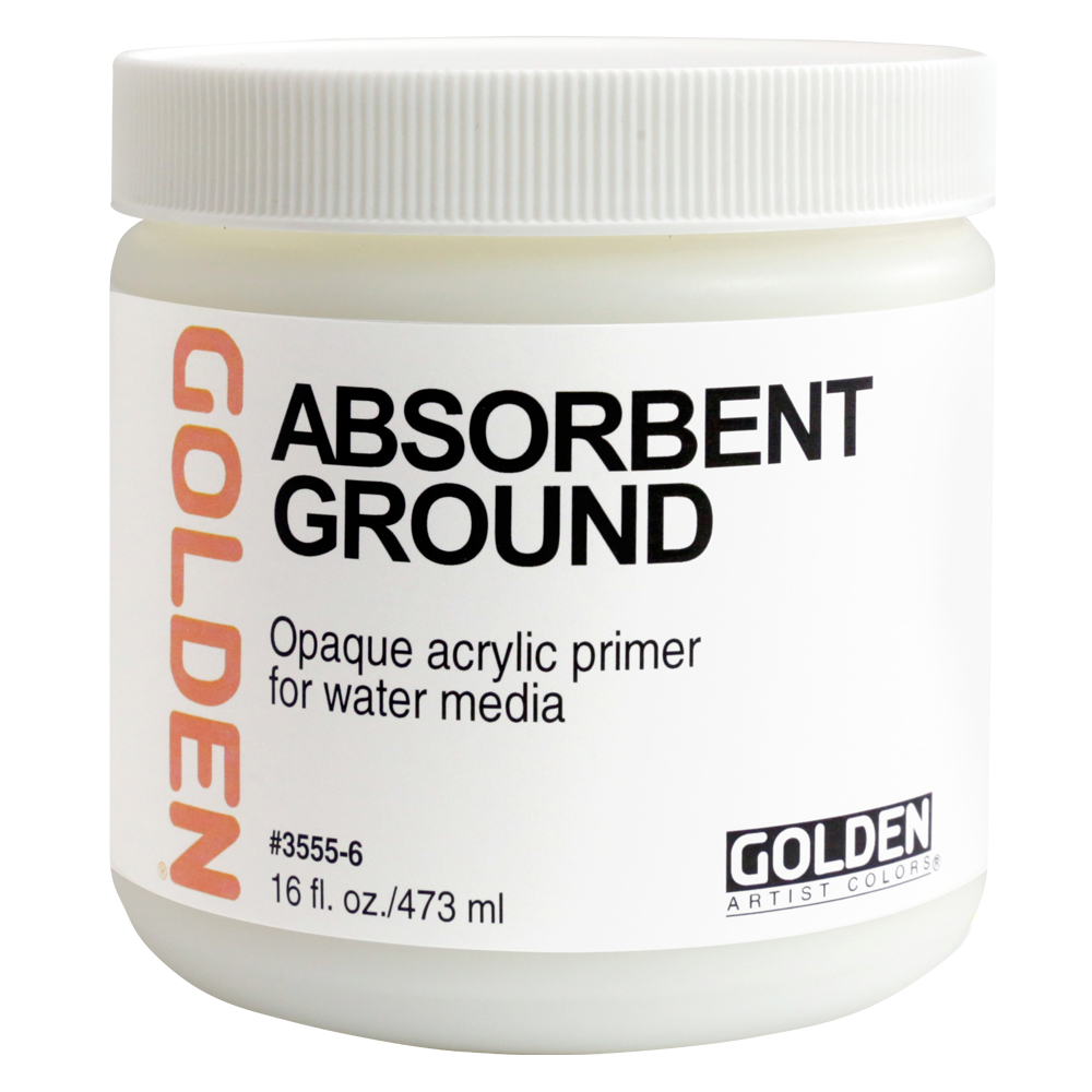 Golden Acrylic 16 Oz Absorbent Ground White