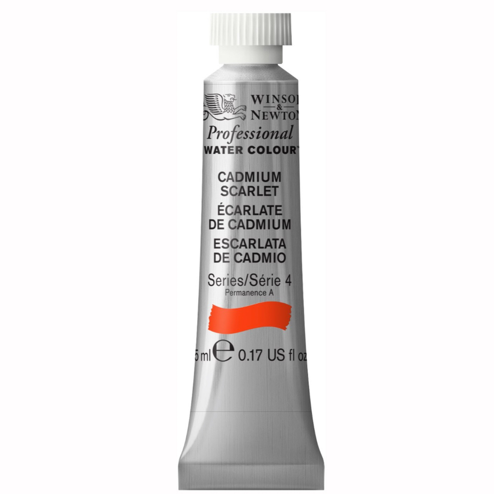 W&N Artist Watercolor 5Ml Cadmium Scarlet