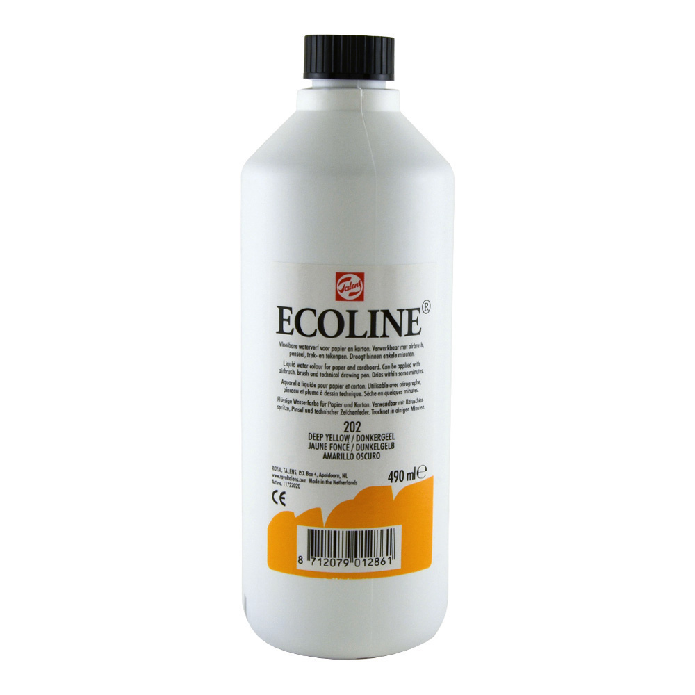 Ecoline Liquid Watercolor 490ml Deep Yellow