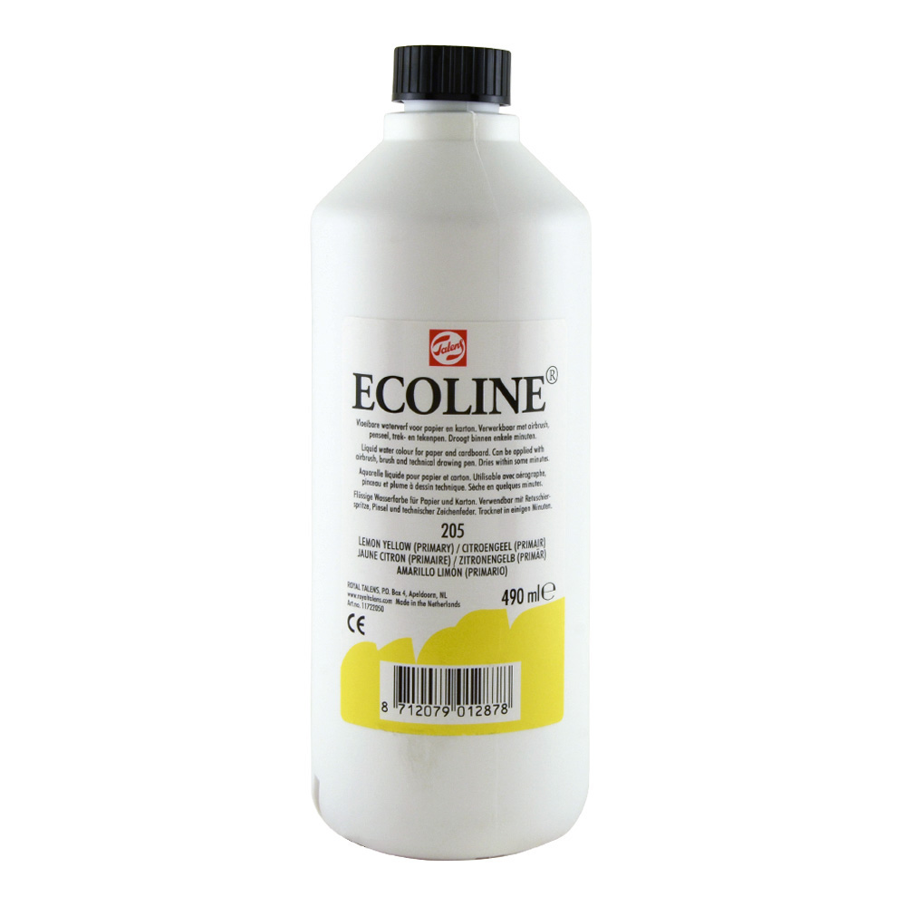 Ecoline Liquid Watercolor 490ml Lemon Yellow