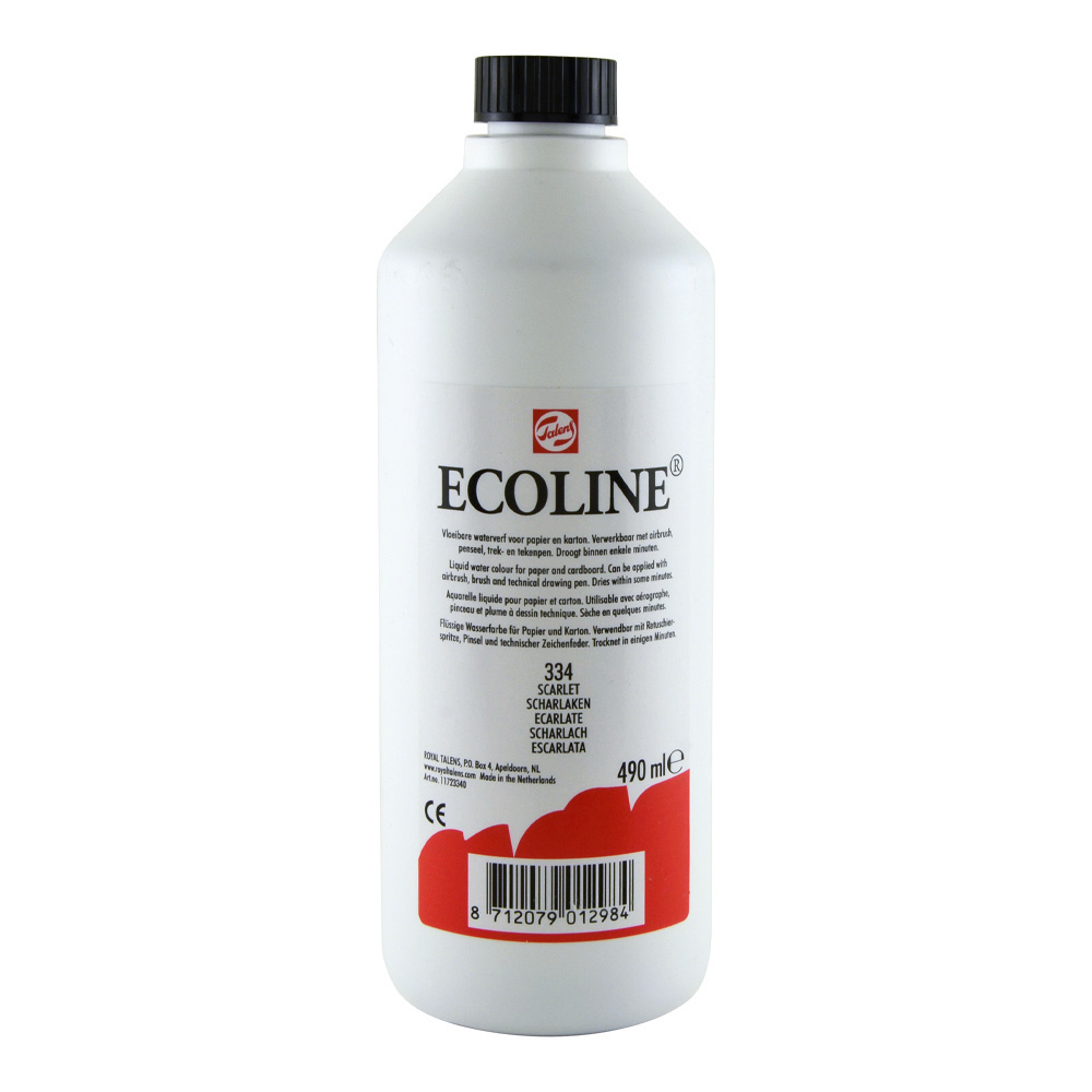 Ecoline Liquid Watercolor 490ml Scarlet