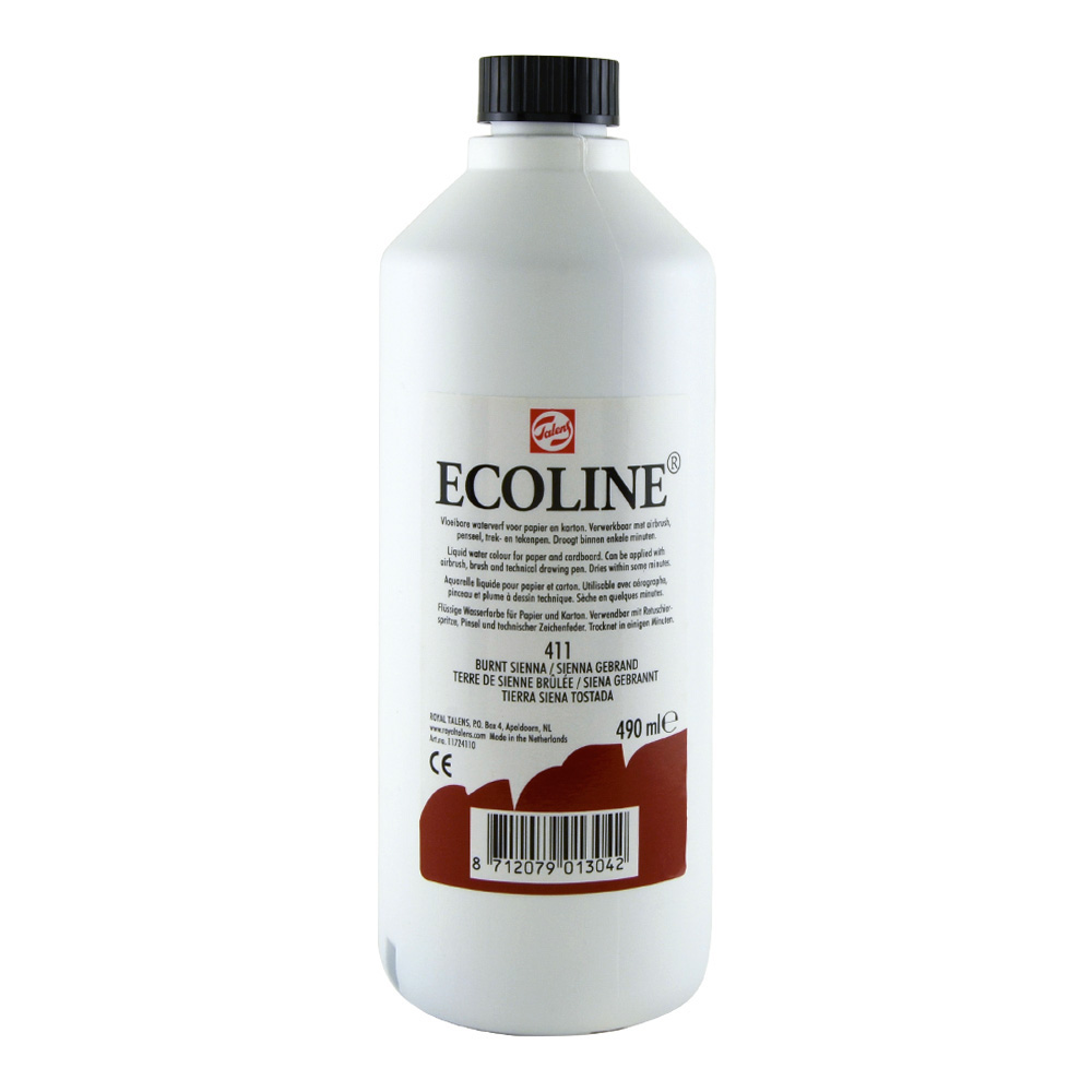 Ecoline Liquid Watercolor 490ml Burnt Sienna