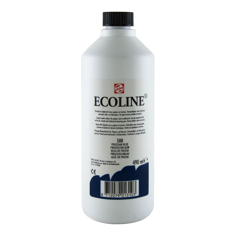 Ecoline Liquid Watercolor 490ml Prussian Blue
