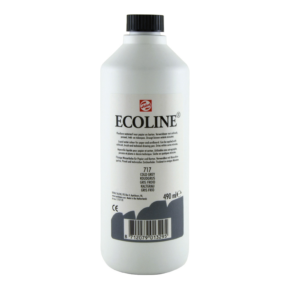 Ecoline Liquid Watercolor 490ml Cold Grey