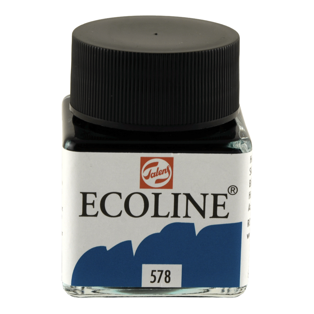 Ecoline Liquid Watercolor 30Ml Sky Blue Cyan