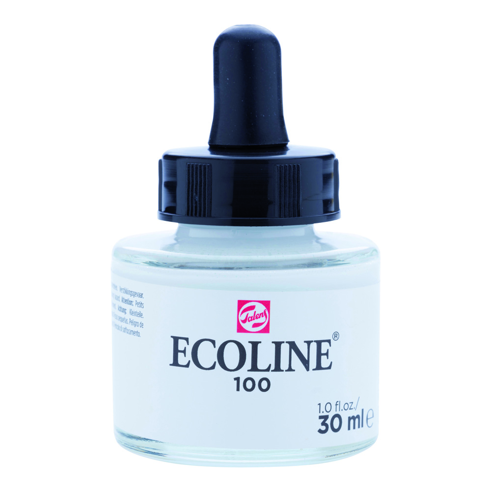 Ecoline Watercolor w/Pipette 30ml White