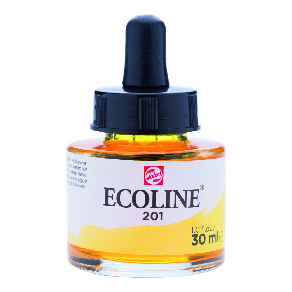 Ecoline Watercolor w/Pipette 30ml Lt Yellow