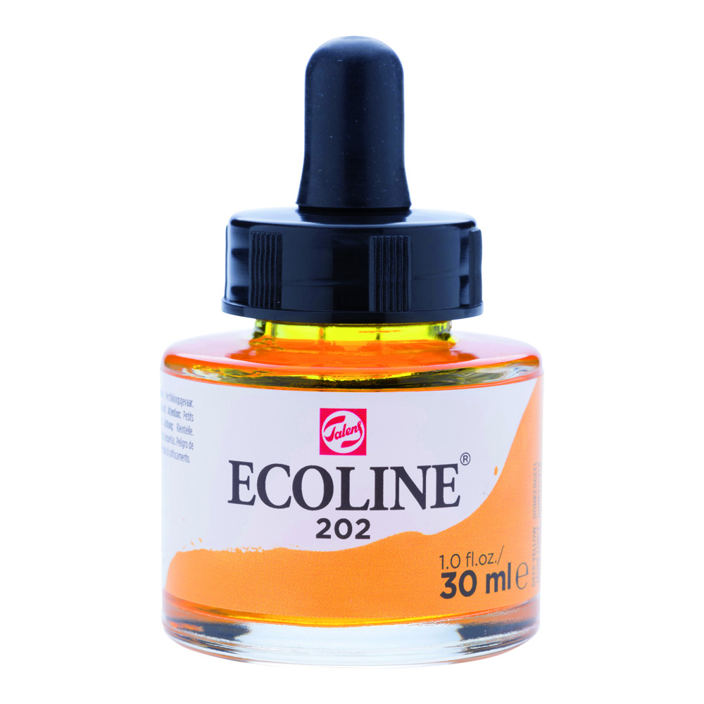 Ecoline Watercolor w/Pipette 30ml Dp Yellow