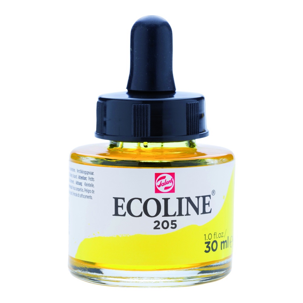 Ecoline Watercolor w/Pipette 30ml Lm Yellow