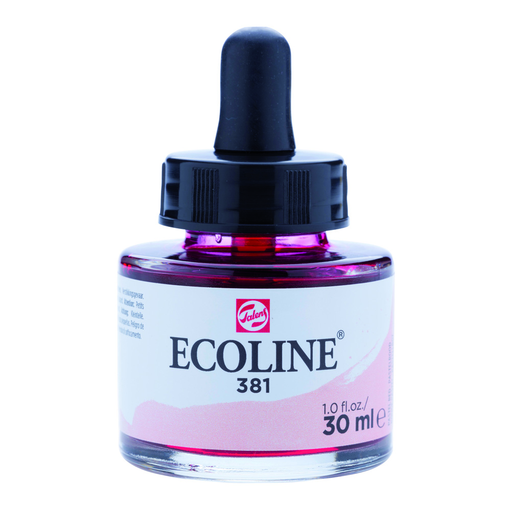 Ecoline Watercolor w/Pipette 30ml Pastel Red