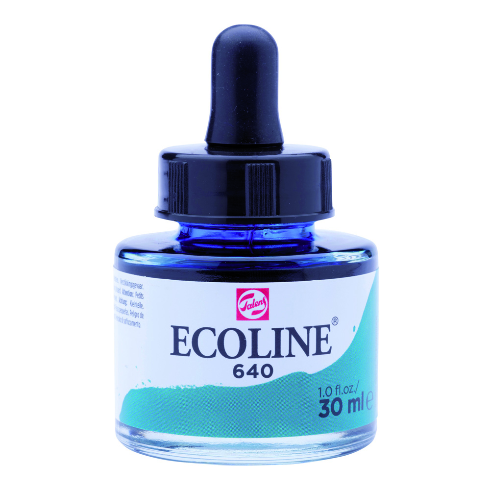 Ecoline Watercolor w/Pipette 30ml Bluish Gn