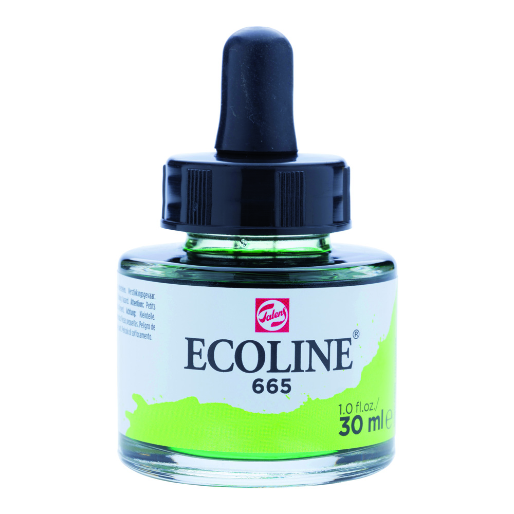 Ecoline Watercolor w/Pipette 30ml Spring Gn
