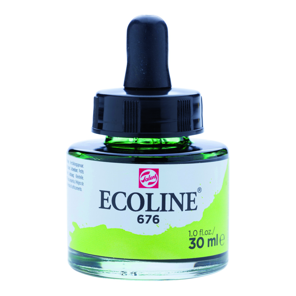 Ecoline Watercolor w/Pipette 30ml Grass Green