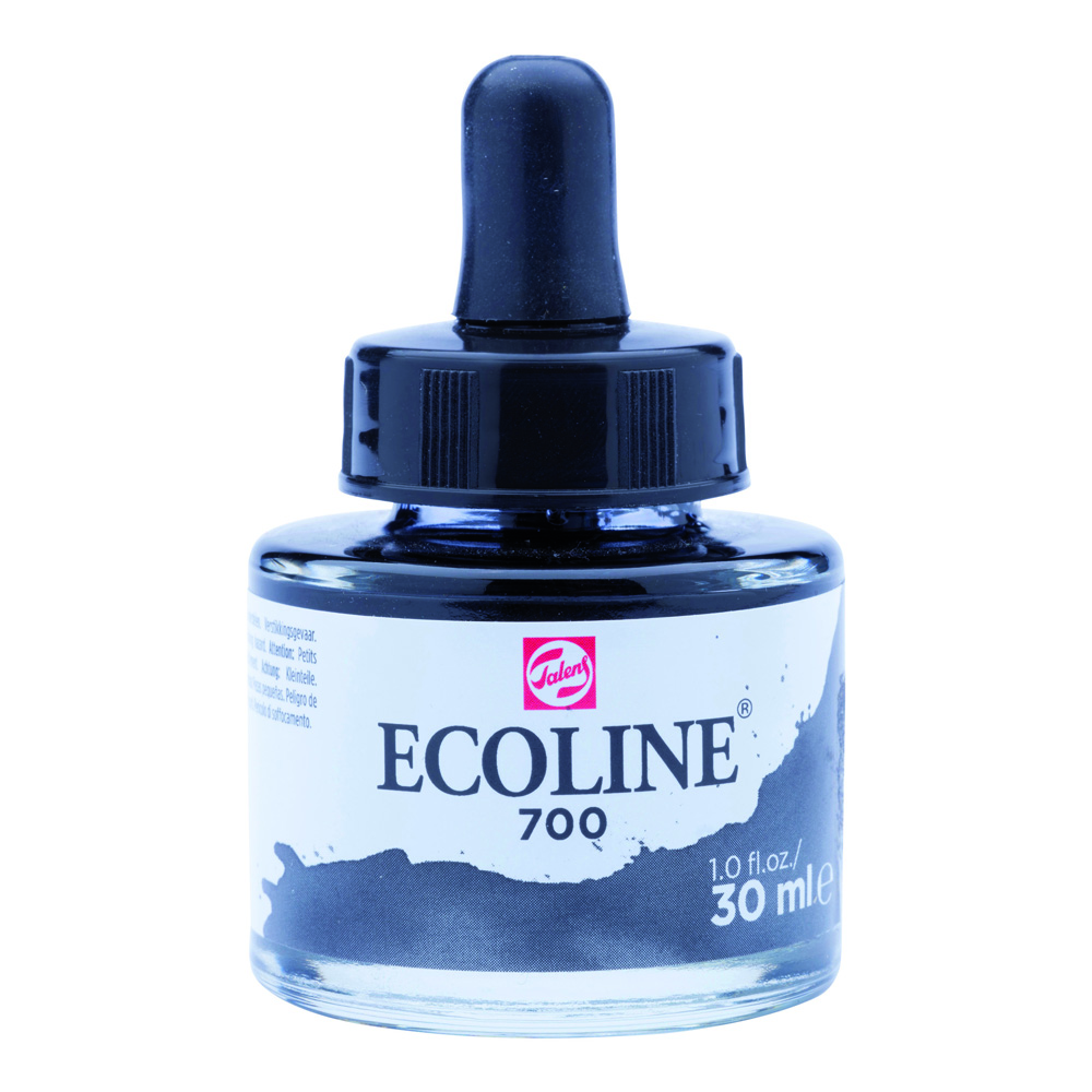 Ecoline Watercolor w/Pipette 30ml Black