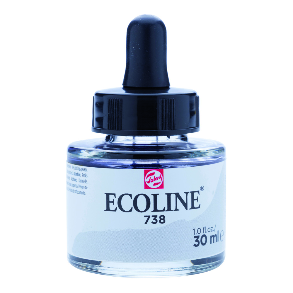 Ecoline Watercolor w/Pipette 30ml Cd Grey Lt